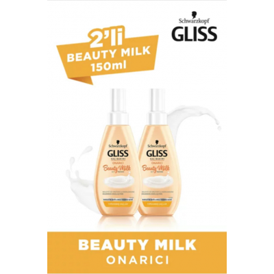 Gliss Beauty Milk-Onarıcı 150 ml x 2 Adet